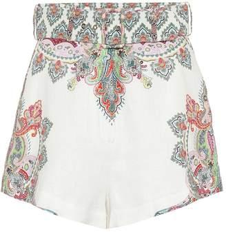 Zimmermann Ninety-Six Filigree linen shorts
