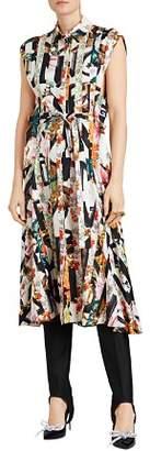 Burberry Sacha Silk Mixed Graffiti Print Dress