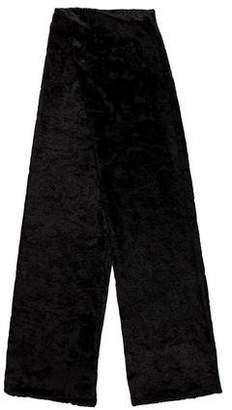 Calvin Klein Velvet-Trimmed Silk Scarf