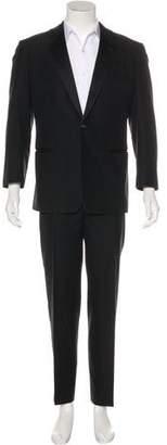 Louis Vuitton Satin-Trimmed Cotton Suit