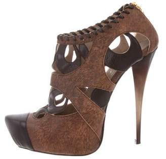 Raphael Young Leather Cut-Out Booties