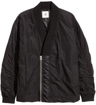H&M Shawl-collar Bomber Jacket - Black