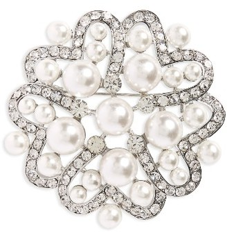 Women's Nina Imitation Pearl & Crystal Brooch $35 thestylecure.com