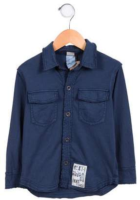 Ikks Boys' Knit Button-Up Top w/ Tags