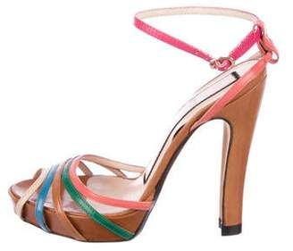 No.21 No. 21 Leather Multistrap Sandals