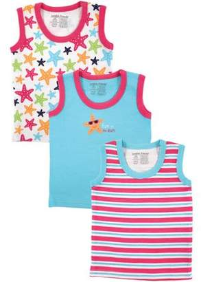 Luvable Friends Baby Girl Tank Tops, 3-Pack