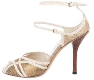 Gucci Snakeskin Strap Sandals