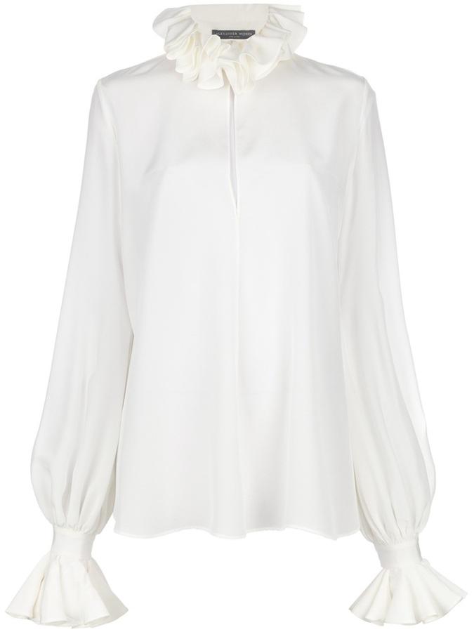 Alexander McQueen ruffle blouse