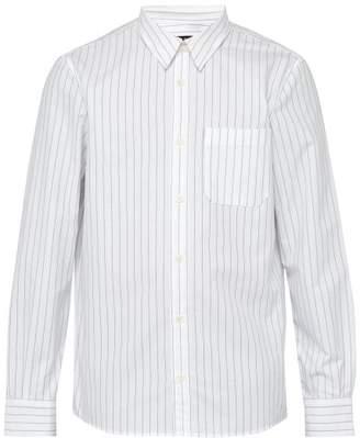 A.P.C. Pinstriped Cotton Shirt - Mens - White Multi