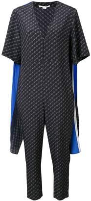 82fa906cec11 Stella McCartney striped cape monogram jumpsuit