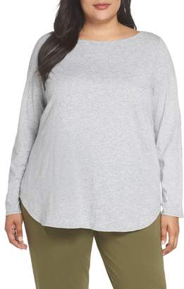 Eileen Fisher Long Sleeve Organic Cotton Tee