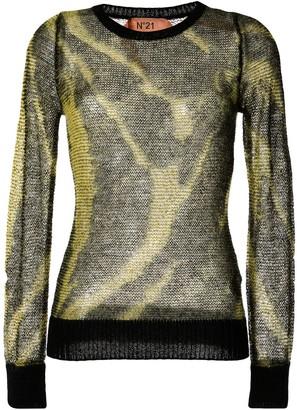 No.21 tie-dye effect jumper