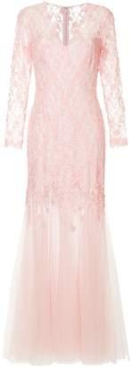Tadashi Shoji lace maxi gown