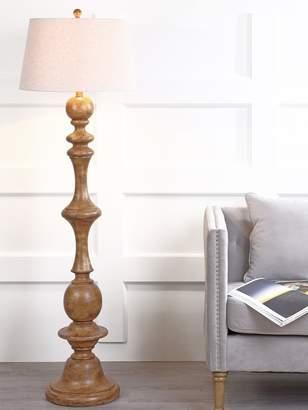 JONATHAN Y Taylor Faux Bois Wood Floor Lamp