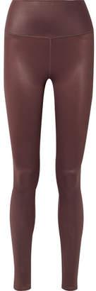 Alo Yoga Airbrush Metallic Stretch Leggings - Dark brown