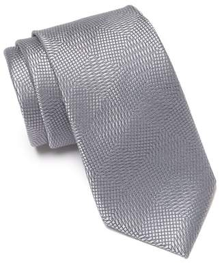 Calvin Klein Intersect Diamond Silk Tie