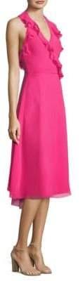 Trina Turk Naples Silk Knee-Length Dress