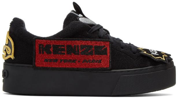 KenzoKenzo Black K-Patch Platform Sneakers