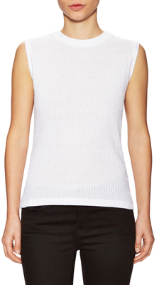 Carven Cotton Knit Shell