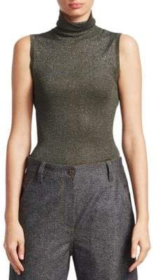 Brunello Cucinelli Lurex-Knit Sleeveless Tank Top