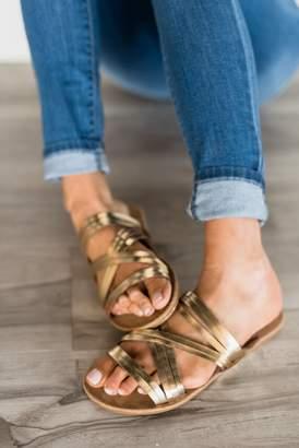 Linda Gold Strappy Sandals