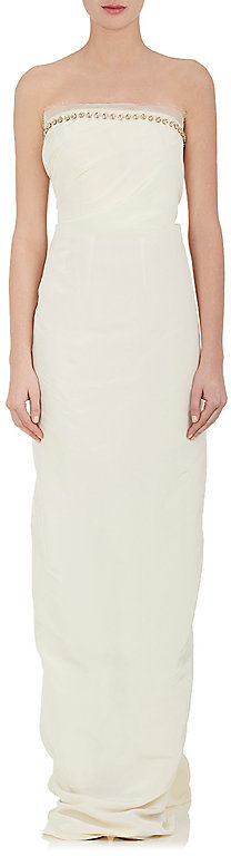 Lanvin Lanvin LANVIN WOMEN'S FAILLE STRAPLESS WEDDING GOWN