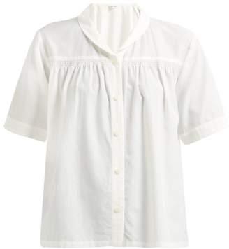 0bb7a5d2d0b84d Chimala Shawl Collar Twill Shirt - Womens - White