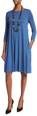 Eileen Fisher Lightweight Jersey Dress w/ Pockets $188 thestylecure.com