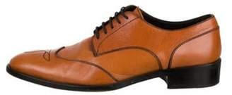 Fendi Leather Wingtip Oxfords orange Leather Wingtip Oxfords