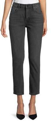Alexander Wang Cult Side-Zip Straight-Leg Jeans