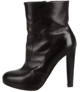 Brian Atwood Platform Round-Toe Boots