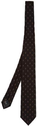 Ermenegildo Zegna Paisley-embroidered silk tie