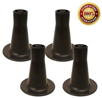 Bed Frame Feet Replacement | Tall Sturdy Cone Shaped Legs | Set of 4 | Protect Your Floor by Changing Your Bed Wheels With These Bed Frame Glide | Dark Brown | Set of 4