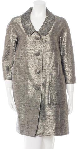 Chloé Chloé Silk Metallic Coat
