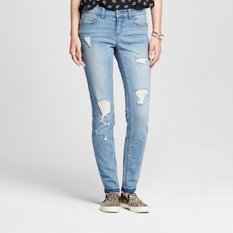 Dollhouse Women's Destructed Released Hem Skinny Jeans - Dollhouse (Juniors') $34.99 thestylecure.com