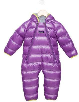 Patagonia Girls' Hooded Down Snowsuit