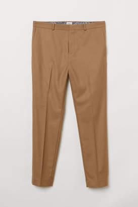 H&M Skinny Fit Suit Pants - Beige