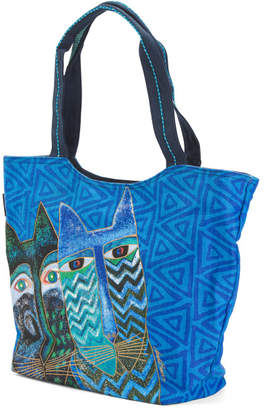 Oversized Canvas Cats Tote
