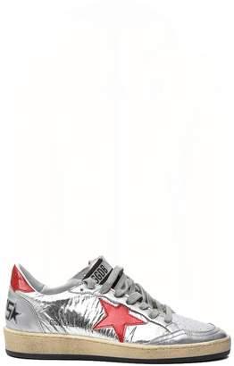 Golden Goose Ball Star Silver Sneakers