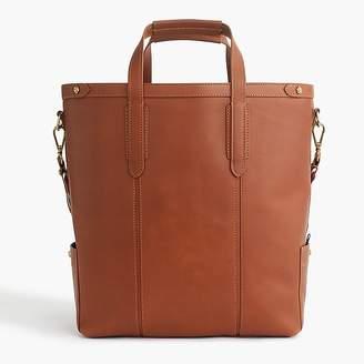 J.Crew Oar Stripe leather tote bag