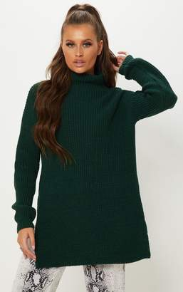 PrettyLittleThing Charcoal High Neck Oversized Jumper