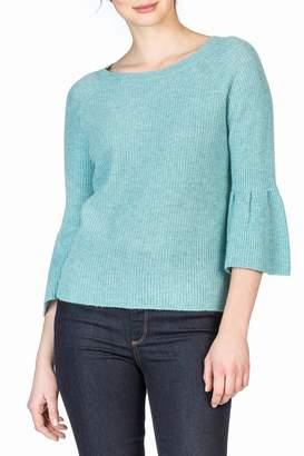 Lilla P Peplum Cashmere Sweater
