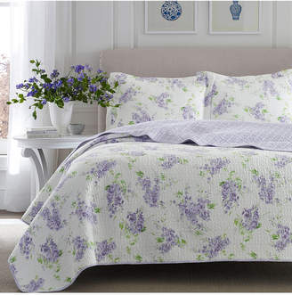 Laura Ashley King Keighley Pastel Purple Quilt Set Bedding