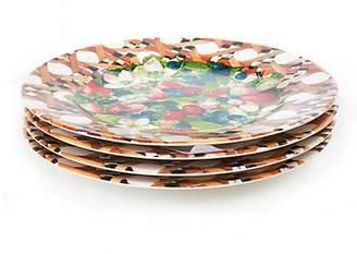 Mackenzie Childs MacKenzie-Childs Set of Four Berries & Blossoms Buffet Plates