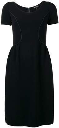 Emporio Armani shortsleeved flare dress