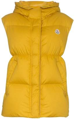 Moncler Cheveche logo detail hooded gilet