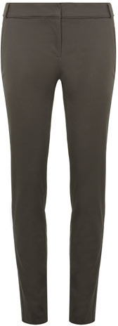 Dorothy Perkins Grey piped cotton skinny