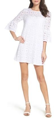 Women's Bb Dakota Jesper Bell Sleeve Lace Shift Dress $90 thestylecure.com