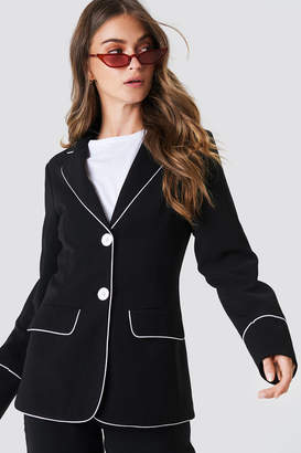 Na Kd Trend Contrast Piping Blazer