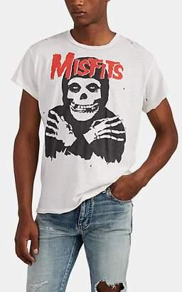 "Madeworn Men's ""Misfits"" Distressed Cotton T-Shirt - White"